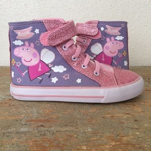 Peppa Pig Pink Princess Hightop Sneakers